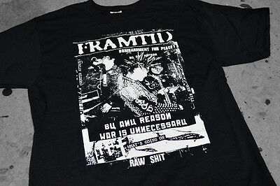 FRAMTID shirt CONFUSE ORdER SDS GISM GAUZE DISCLOSE crust war raw punk