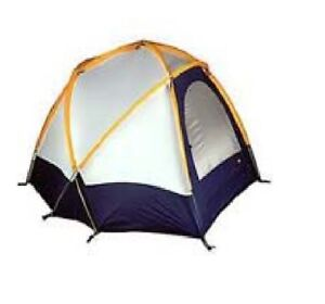 Details about REI Geo Mountain Gold Blue White Geodesic Dome One Tent W/ Covering  sc 1 st  eBay & REI Geo Mountain Gold Blue White Geodesic Dome One Tent W/ Covering ...