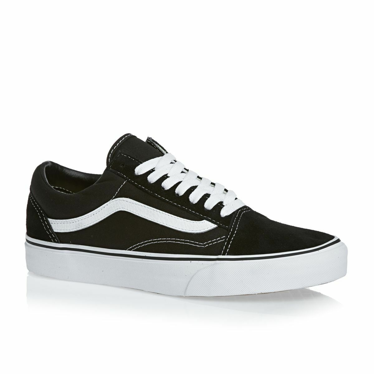New Women Vans Old Skool Black Skateboarding Shoes Classic Canvas Suede size 8