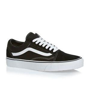 d4d44b5aa2634f Image is loading Women-Vans-Old-Skool-Black-Skateboarding-Shoes-Classic-