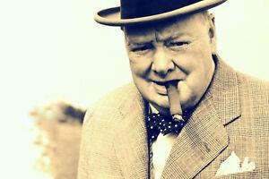 Impression-Encadree-Winston-Churchill-Image-Guerre-Mondiale-2-Britannique