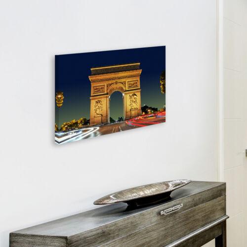 SC284 Arc de Triomphe Paris Cool Landscape Canvas Wall Art Large Picture Prints