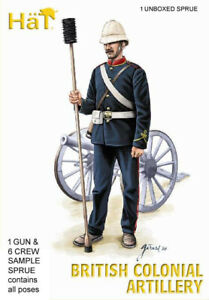 HaT 8210 COLONIAL BRITISH ARTILLERY 1/72 Model Kit - 1 SPRUE - 1 Gun & crew