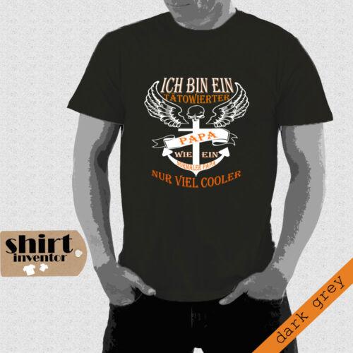 Calavera Rock t-shirt hasta 5xl td068 Tätowierter papá cool ancla Fun