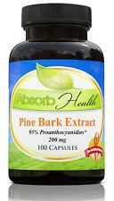 Pine Bark Extract   200mg   100 Capsules   95% Flavanoids   Like Pycnogenol