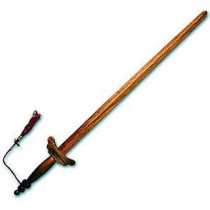 Hardwood Tai Chi épée Arts Martiaux Kung Fu Wushu Arme Pratique Gear-afficher Le Titre D'origine Forme éLéGante