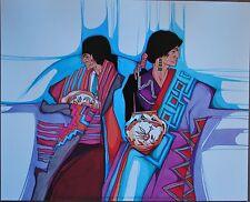 "LOS ARTESANOS/"" 1985 #1101 UNSIGNED 16X20/"" Amado Pena MIDI Prints /""COLCHA SERIES"