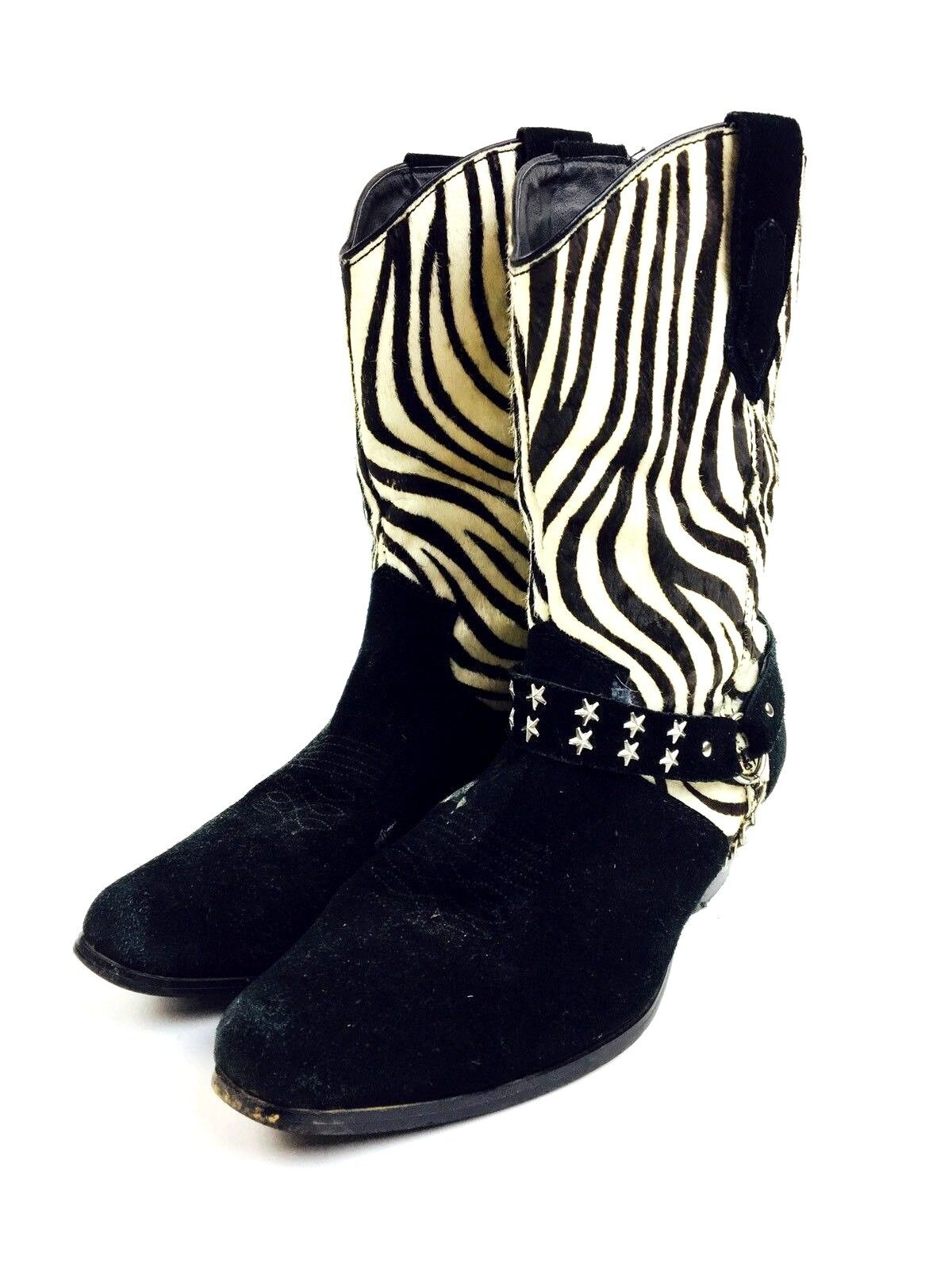 Zebra Cowboy Boots Women's Shoes Women's Boots He… - image 3