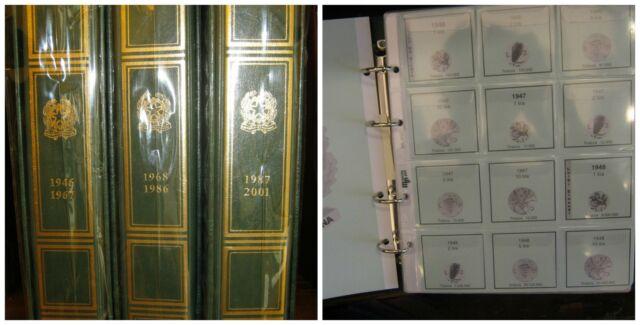 Album / Raccoglitore con Fogli per monete Repubblica Ital. Certificata 1946-1999