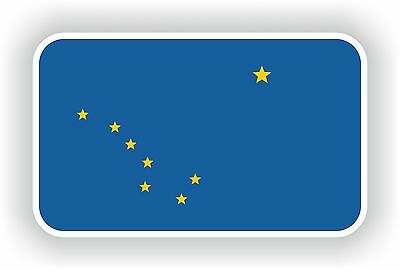 ALASKA FLAG BUMPER STICKER TOOLBOX STICKER LAPTOP STICKER HELMET STICKER