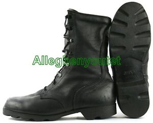 US Military LEATHER PANAMA SOLE Combat Boots BLACK Made in USA Many ... 2c7c4a69dcc