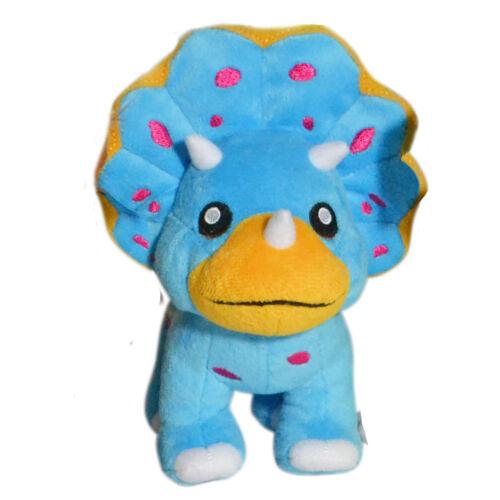 DINO MIGHTS TRICERATOPS BLUE DINOSAUR CUTE KIDS FUN PLUSH TOY 15cm **NEW**