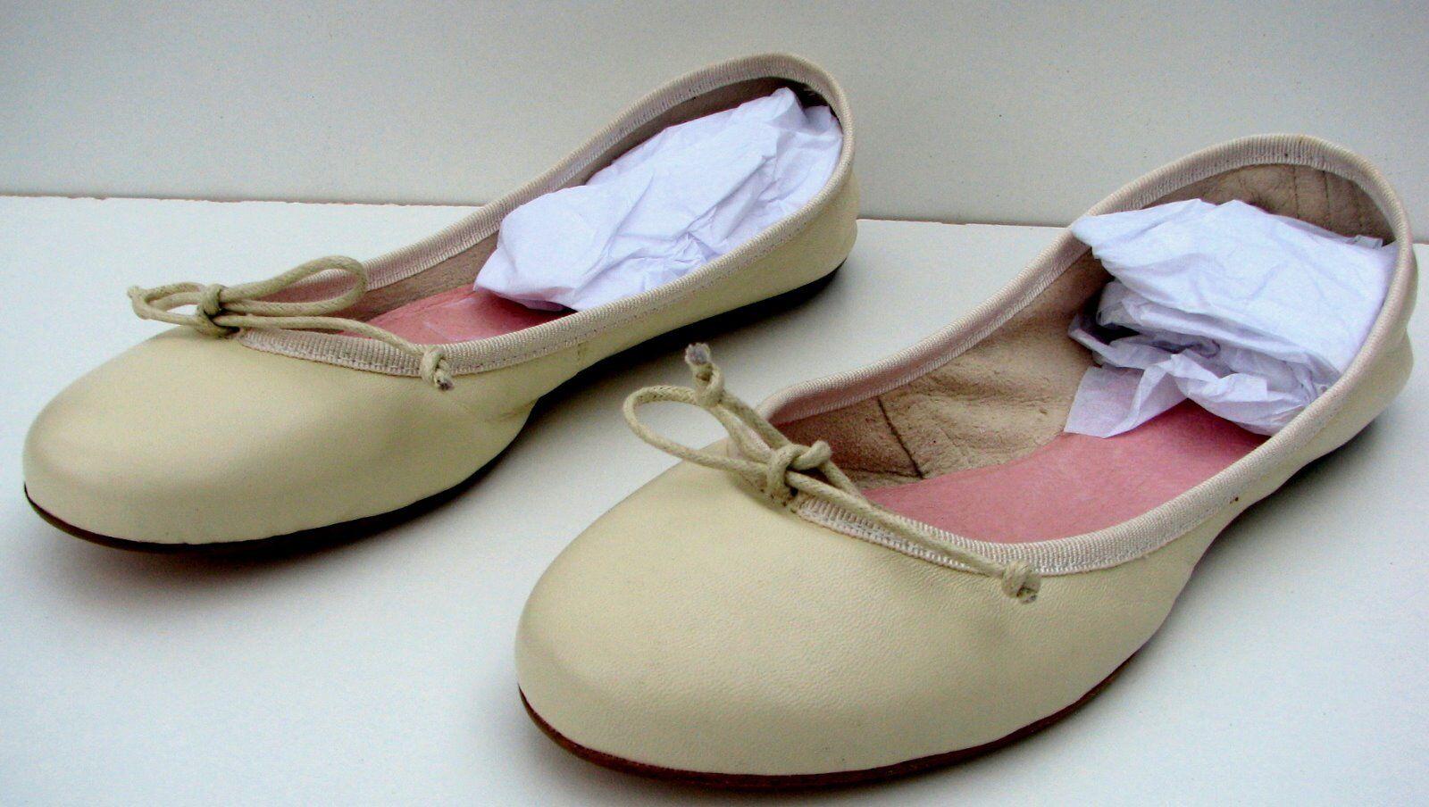 Gran lavorazione Artigiana Artigiana Artigiana Marfil Ballet Zapatos sin Taco Sin, nuevo tamaño 39EU 8-8.5US Hecho Italia  Disfruta de un 50% de descuento.