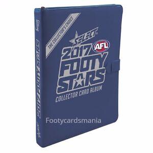2017-AFL-SELECT-FOOTY-STARS-ALBUM-BINDER-FOLDER-w-4-CARD-PACKS-25-x-SLEEVES