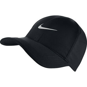 La imagen se está cargando Nuevo-Sombrero-Gorra-Nike-Drifit-Feather-Light -Negro- 31347a4f7f7