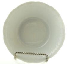 Dansk Ivy Fruit Cereal Bowl Solid White Embossed Edge