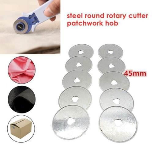 5//10pcs 45mm Rotary Cutter Refill Blade Sewing Quilting Cutters Patchwork Tools