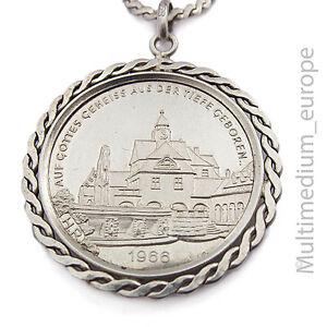Besorgt Medaille Nad Nauheim Herzheilbad Auf Gottes Geheiß Aus Der Tiefe Geboren Silber Diversifiziert In Der Verpackung Münzen