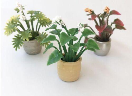 1pc Dollhouse Miniature Green Plant Flower Tree Pot Accessory Fairy Garden Decor