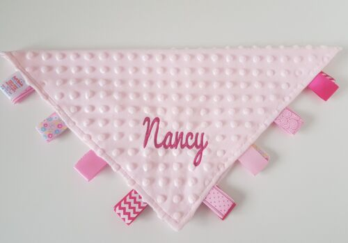 Personalised embroidered Super Soft Baby//child/'s Taggy Blanket