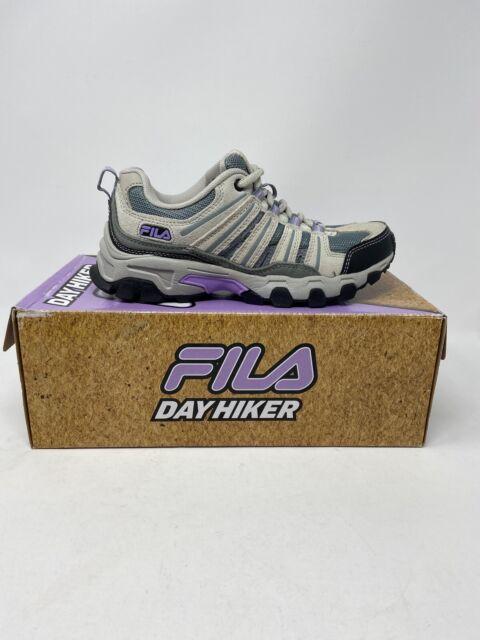 FILA Womens Day Hiker Shoes Gray Lilac