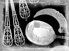 PUIFORCAT Fabulous French All Sterling Silver Ice Cream Set 2 pc Fantasy Ferrure