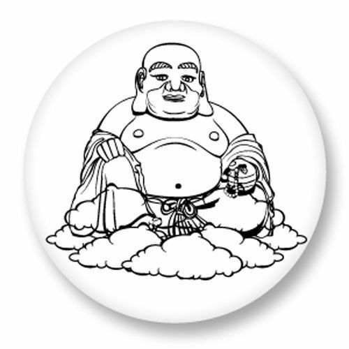 Magnet Aimant Frigo Ø38mm Bouddha Buddha Bouddhisme Sage Sagesse