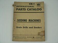 Parts Catalog International Harvester Sm 1 Seeding Machines Grain Drills 1958