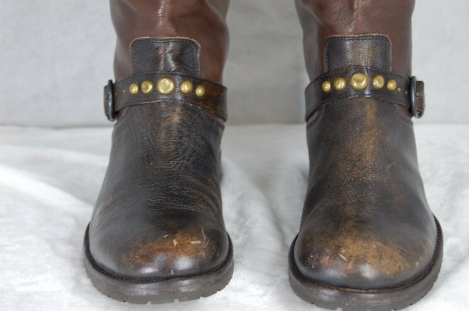 HTC HAND MADE IN ITALY WOMEN LEATHER RIDING BIKER TALL 11 Stiefel EU 41 US 11 TALL e9fb27