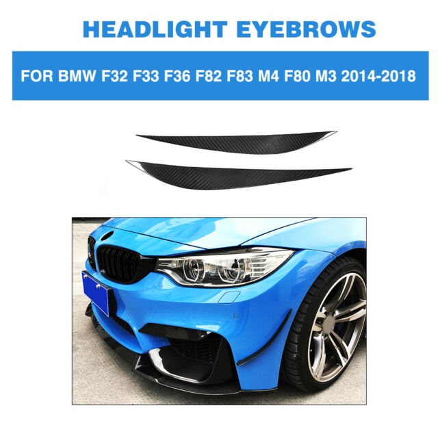 Carbon Fiber Headlight Cover Eyelids Eyebrows Fit For BMW