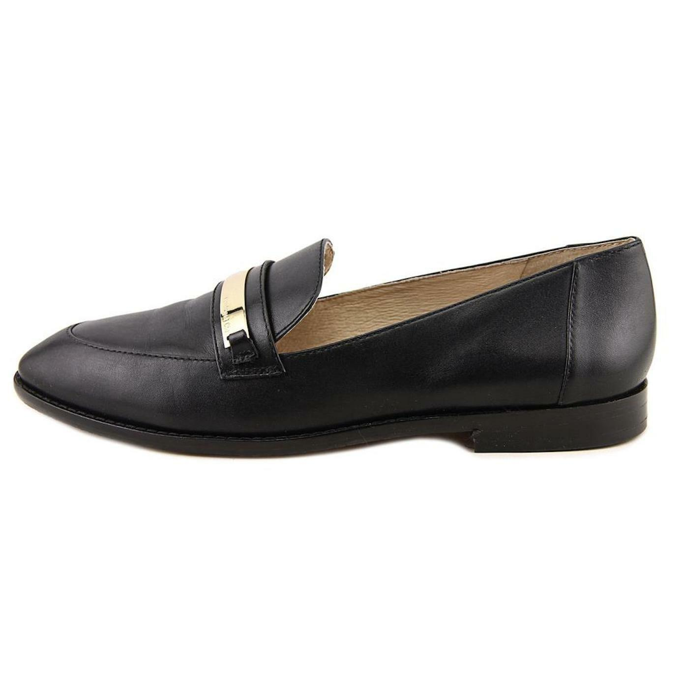 Louise Et Cie Cie Cie Lo-Jan Apron Toe Black Nappa Leather Loafer Sz 7 NEW 3dbc27