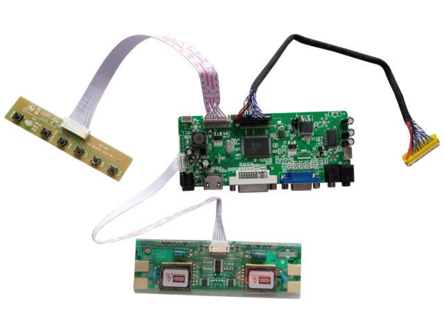 Audio LCD LED Controller Board driver Kit For B154SW01 V.9 HDMI DVI VGA