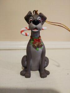 "Groiler Disney ""TRAMP"" Candy Cane Christmas Magic Ornament 3.25"""