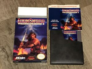 Wizards-amp-Warriors-II-2-Iron-Sword-Nintendo-Nes-Complete-CIB-NM-Authentic