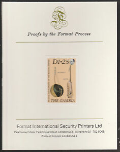 1987 Musical Instruments Imperf On Format International Proof Card 542 Gambia