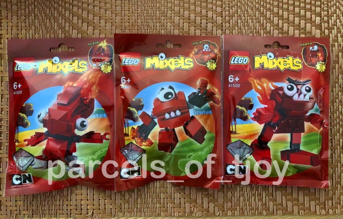 Lego Mixels Series 1 RED SET - 41500 41500 41500 41501 41502 FLAIN VULK ZORCH SEALED 52020d