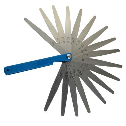 0.02mm-1mm 17 lames épaisseur Gap Metric Filler tâteur Jauge Mesure Outil