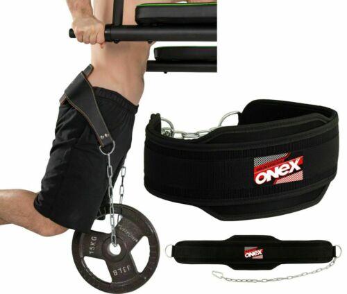 """6/"""" Cintura Immersione Sollevamento Pesi Allenamento Catena Dip Cintura aggiungere altro peso Heavy Duty"""