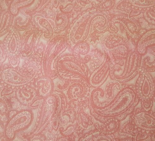 St Nicole Designs BTY Benartex Tonal Pink Packed Paisley