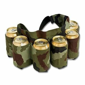 BEER-BELT-Redneck-Can-Holster-Beer-Soda-6-Pack-Holder-Cans-Party-Drinks-CAMO
