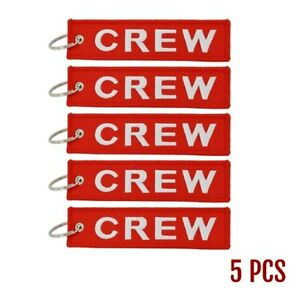 Luggage-Keychain-Tags-for-Flight-Crew-Set-of-5-with-Keyrings