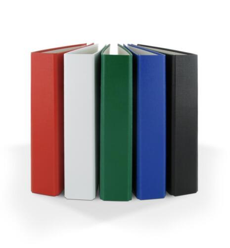 2-Ring Ordner DIN A5 Farbe 10x Ringbuch je 2x grün,weiß,rot,schwarz,blau