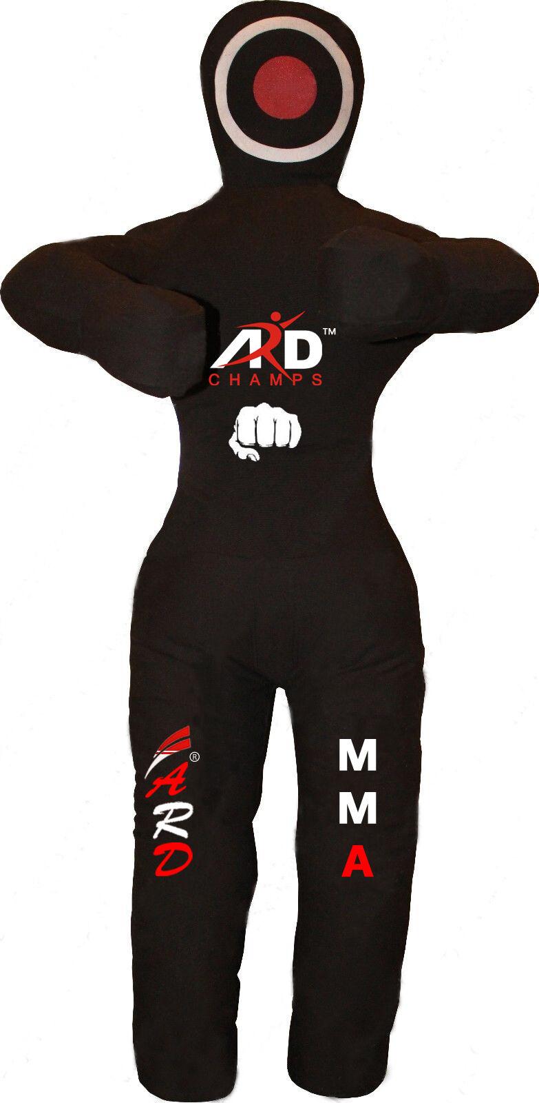 2Fit™ Brazilian Jiu Jitsu Straight Grappling Canvas Dummy MMA Wrestling Judo Blk