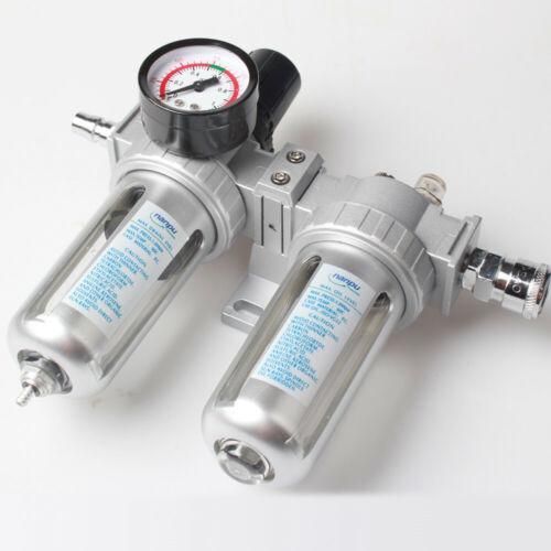 Air Compressor Lubricator Oil Moisture Water Trap Filter Regulator Mount Fitting