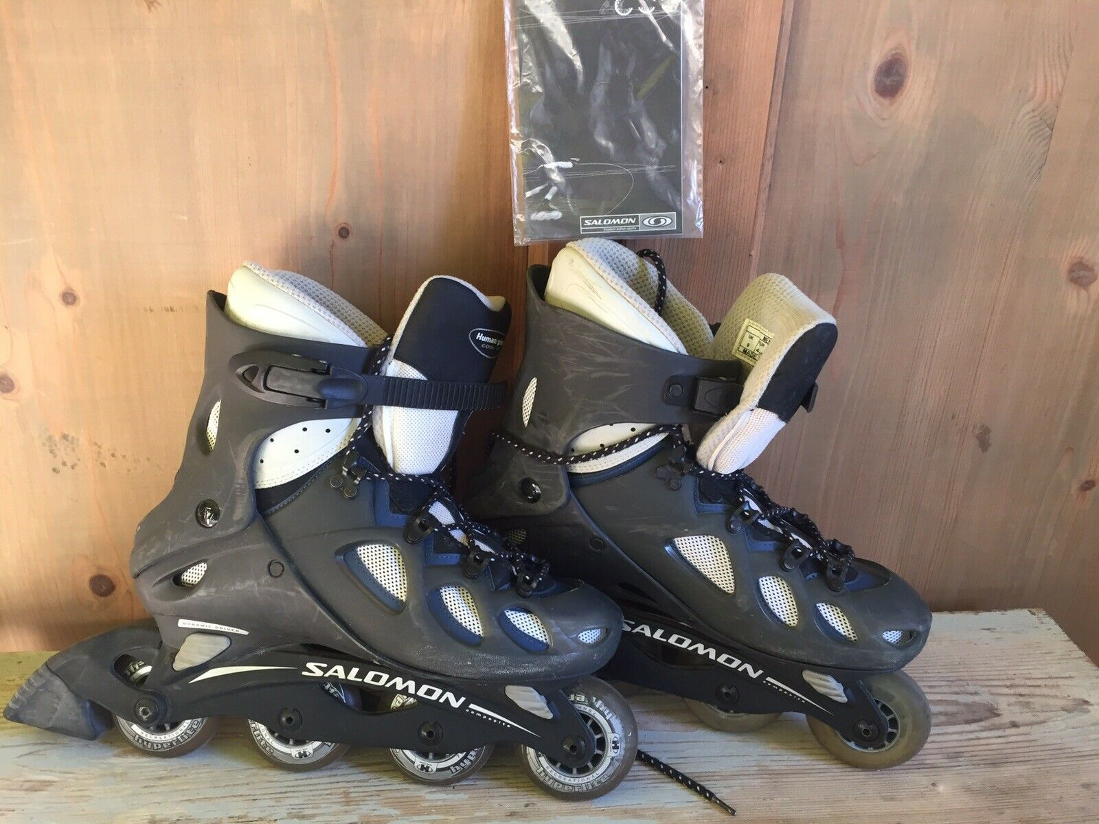 Salomon pattini in linea Roller Blades UK9 Eur 43 13 Perfette condizione