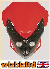 RED Spectre Street Fighter Twin Lights Fairing Headlight With Fixings HLUSPER