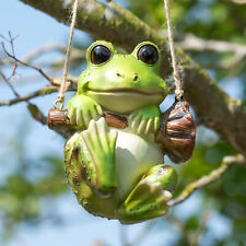 Large Decorative Resin Frog Garden Ornament Hangs on Plant Pot or Fence