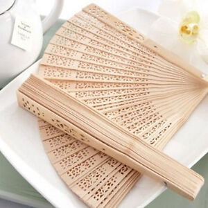 Fragrant-Flower-Hand-Hollow-Carved-Wooden-Bamboo-Chinese-Folding-Fan-DIY-Gift