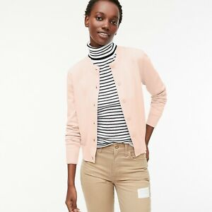 Details about J.Crew Women's Cardigan Sweater In Cotton Crepe Size XS 34 Sleeve Pink AK190