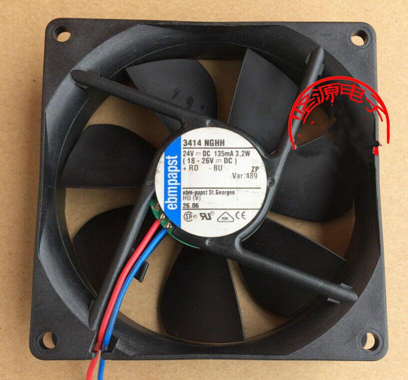 1pcs ebm PAPST 3414 NGHH 8CM 8025 24V 3.2W ingreener fan